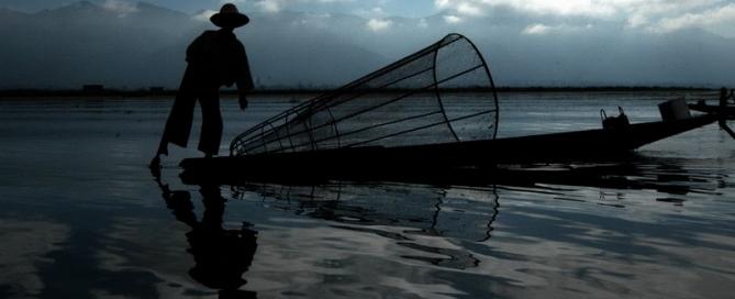 שייטי הרגל באגם אינלה, מיאנמר