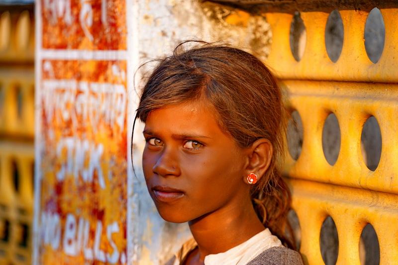 הארידוואר - על גדת הגנגס. בהודו.ילדה שנכנסה לי ללב.
